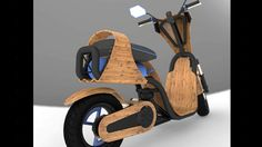 This bamboo scooter runs on air