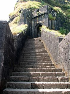 Lohagad Fort ruins (Marathi: लोहगड, iron fort) is one of the many hill forts of the Maharashtra state in the Pune district of India and rises to an elevation of 3,389 ft above sea level. Lohagad has a long history with several dynasties occupying it at different periods of time, including Shivaji Bhonsle, an Indian warrior king, who captured the fort in 1670 and used it for storing his treasury.