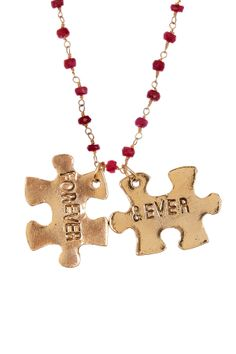 FOR THE KIDS.... we could make this!!! Forever & Ever Ruby Necklace