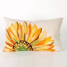 Sunflower Pillow Yellow 20x12  by Liora Manné $32 from Lamontage on Fab