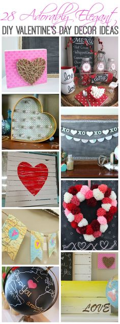 Find all kinds of Valentine's Day decorating Inspiration with these 28 adorably elegant DIY Valentine's Day Decor Ideas at The Happy Housie