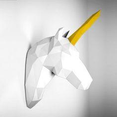 Unicorn Walltrophy by Papertrophy on Etsy Diy Wanddekorationen, Paper Wall Decor, Design3000, Bohemian Living, Boho, Bohemian Interior, Unicorn Birthday Parties, Inspirational Gifts, Decor Interior Design