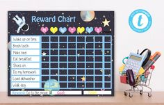 Editable Space Reward Chart, Space instant download party invitation, You print birthday banner, Space DIY party Kids Sleep, Child Sleep, Goal Charts, Baby Sign Language, Christmas Party Invitations, Do Homework, Newborn Care, How To Make Bed, Kids Nutrition