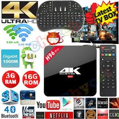 H96 Pro Android 6.0 TV Box Amlogic S912 Octa Core Android 6.0 3G RAM 16G ROM LAN Bluetooth Dual Band WIFI 3D4K Smart TV BOX (32739661750)  SEE MORE  #SuperDeals