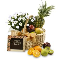 The Mother's Day Fruit & Flower Basket #MothersDay #Gift