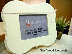 I love you because... Frame and Free Printable | The Wood Connection Blog