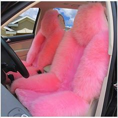 Picture 11 of 19 car accessories Genuine Australian Sheepskin Fur Car 1 Front Seat Cover Winter Universal Pink Car Seat Covers, Pink Car Accessories, Girly Car, Car Interior Decor, Car Essentials, Cute Cars, Pretty Cars, Car Car, Luxury Cars