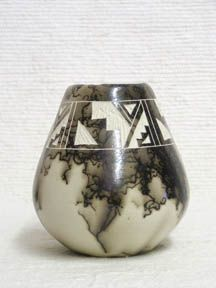 Native American Ceramic Horsehair Pottery - Harvest Horsehair Pot. 5 in. tall. The ancient Indian tribes made pottery like this to honor a favorite horse or to celebrate the birth of a horse. Certificate of Authenticity. $49.95. Horsehair Pottery. Horse Hair Pottery.
