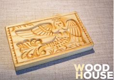 Wooden carving mold for cookies and gingerbreads