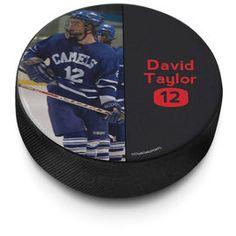 Personalized Hockey Puck Photo (Split)