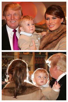 Donald, Melania & Barron Trump He's Beautiful, Our Girl, Respect, Donald Trump, Presidents, Families, Couple Photos, American, Lady