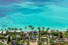 lani kai beach and its beautifully coral colored sandy waters make for a relaxing seen on the island of oahu hawaii. Hula Dance, Moving To Hawaii, Travel Specials, Waimea Canyon, Learn To Surf, Oahu Hawaii, Mountain Landscape, Big Island, Coral Color