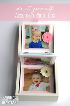 DIY Accordion Photo Box, HandmadeintheHeartland.com