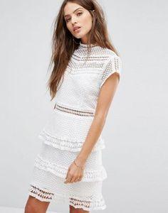 Y.A.S Cap-Sleeve Lace Dress