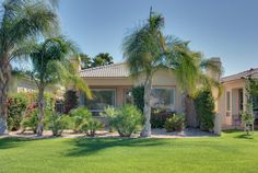 There is a private patio which views both the San Jacinto Mountains and the golf course.
