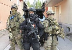 Norwegian special forces (FSK and MJK) along with Norwegian Police Emergency Response Unit during counter-terrorism exercise, 2014.