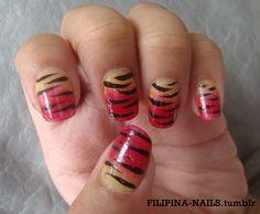 Nail Art Gallery - TIGER!