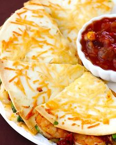 Parmesan-Crusted Shrimp Quesadillas & more seafood recipes