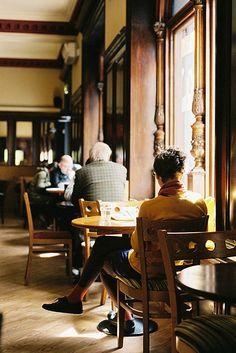 Costa Coffee, Dawson St, Dublin. Housed in a former bank, beautiful interior