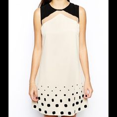 Little Mistress Shift Dress frm@ ASOS Tunic/shift dress. Embellished details at bottom. Great for weddings and parties! Never Worn. No Trades. Little Mistress Dresses