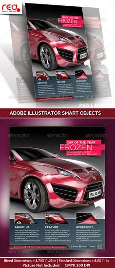 Buy Car Promotion Flyer, Poster & Magazine Template by redshinestudio on GraphicRiver. SPECIFICATION Flyer / Poster Template is . Corporate Design, Flyer Design, Business Flyer Templates, Business Flyers, Car Banner, Print Design, Logo Design, Promotional Flyers, Flyer Layout