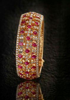 beautiful ruby & diamond bangle