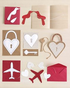 Valentines - Basic 3D Card-Making Tips: garland cards, accordion cards, & illustrated cards with free printables & templates
