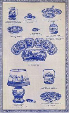 Spode History: blue printed.