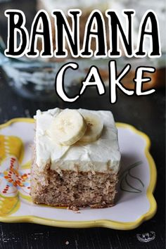 OMG this easy banana cake is so good. A cake mix gives you a head start!With banana whipped cream frosting! OMG this easy banana cake is so good. A cake mix gives you a head start! Semi Homemade Cake Recipe, Homemade Desserts, Homemade Cakes, Easy Desserts, Delicious Desserts, Best Cake Recipes, Cupcake Recipes, Sweet Recipes, Cupcake Cakes