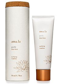 Amala Purifying Mattifier: no-shine for hours, but doesn't make skin feel dry! In fact, it's skin-clearing, Create a soft matte finish on skin while helping to control shine with whole the botanical ingredients in Amala Purifying Mattifier. This lightweight mattifier helps refine and purify pores for a smooth finish. 1.7 oz.anti-oxidant ingredients act as shine-free skin care.deal for:  Excess oil and shine in T zone; dryness on cheeks  Large pores; clogged pores. $48