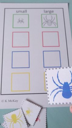 Download this Spider Sort by Color & Size Autism Speech & Language Activity today from Curriculum For Autism for your classroom or home school Language Activities, Preschool Activities, The Very Busy Spider, Curriculum, Homeschool, Speech Room, Autism Classroom, Speech And Language, Special Education
