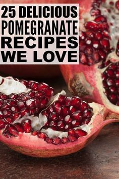 This collection of delicious and easy-to-make recipes is a go-to guide for breakfast, lunch, dinner, snack time or any time you need food! Pomegranate Recipes Healthy, Healthy Recipes, Pomegranate Ideas, Pomegranate Growing, Pomegranate Guacamole, Healthy Meals, Smoothie Recipes, Smoothies, Good Food