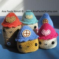 Casitas (Little Houses) crochet pattern - PDF Digital Download