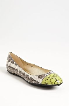 {jimmy choo whirl ballerina flats - snakeskin + a cap toe = love}. Jimmy  Choo Shoes for Women