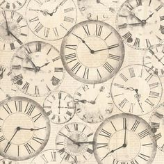 roman numeral clocks scrapbook paper | Scrapbook papers ...