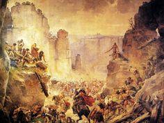 Mikolas Ales ,  Battle of Saksen. Hrubá Skala 10 x 8,5 mtr.