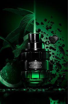 Eau de Toilette Spicebomb Night Vision 90 ml Viktor & Rolf Aqua, Cosmetics & Perfume, Clary Sage, Roasted Almonds, Fragrance Parfum, Night Vision, Sephora, Perfume Bottles, Dining