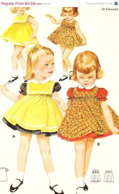 Holiday SALE 20% Off Vintage 1950s Toddlers by patternpalooza