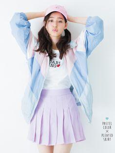 パステルカラーのスポーティスタイル♡ ◇高校生ファッション スタイルのコーデ アイデア◇
