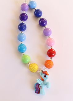 Chunky Necklace Rainbow Dash