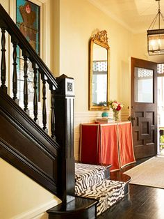 1000 images about skirted console on pinterest skirted for Entryway into living room ideas
