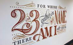 Church Mural on Behance - wall art