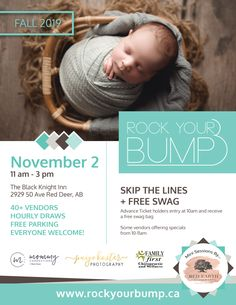 Advertising for a mom and baby expo Free Swag, Ticket Holders, Free Park, Red Deer, Rook, Mom And Baby, Advertising, Abs, Crochet Hats