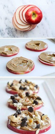 Rodajas de manzana con crema