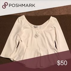 🚫No Trade🚫 Bebe Peplum 3/4 Bebe Peplum NWT bebe Tops Tees - Long Sleeve