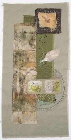 Linda Marcille, Fine Art ~ Crow House Studio: Hand Stitched Eco Dyed Cloth & New Eco Print Bundles Textile Fiber Art, Textile Artists, Quilt Modernen, Art Tribal, Creative Textiles, Fabric Journals, Creative Embroidery, Free Machine Embroidery, Fabric Art