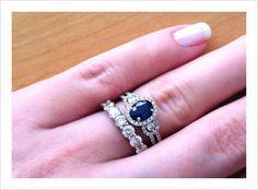 Vintage Saphire Engagement Ring