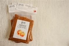 1 LB Caramel Apple Kit with Sticks; Annie B's caramels pairs perfectly with crisp autumn apples. The caramel apple pack comes with 5 wooden sticks and directions for splendid caramel apples to please the hungriest of orchard dwellers (or trick-or-treaters)! After all, you are pairing the caramel with apples, so it counts as a serving of fruit! All natural and gluten free, the 1 LB caramel package is $6.00.