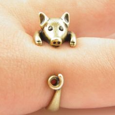 Realistic Pig Ring Gender: Women Material: None Metals Type: Tin Alloy Occasion: Party Style: Trendy Shape\\pattern: Animal Model Number: ring Rings Type: Wedding Bands Setting Type: None Item Type: Ri Piggly Wiggly, Mini Pigs, Cute Piggies, Animal Rings, Animal Jewelry, This Little Piggy, Just In Case, Fine Jewelry, Gifts