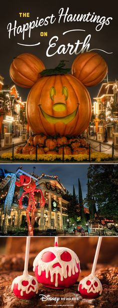 It's the spookiest time of the year, but have no fear! From candied apples to happy haunts, Disneyland Resort makes Halloween a blast! Disneyland California, Disneyland Trip, Disneyland Resort, Disney Tips, Disney Magic, Disney Parks, Disney Recipes, Disney Destinations, Disney Vacations
